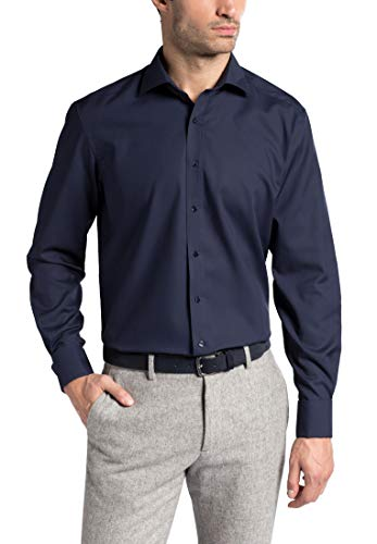 Comfort Uni Fit Long Shirt Poplin Sleeve Eterna Azul Marino HAtwSq