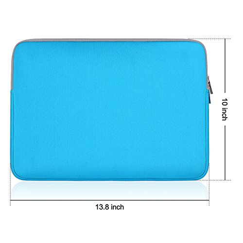 egiant Laptop Sleeve Case 13.3 inch Waterproof Protective Bag Compatible Mac Air 13 /Pro 13 Touch Bar/Surface Book/12.9'' iPad Pro/Chromebook 13,Computer Notebook Carrying Case- Blue by egiant (Image #7)