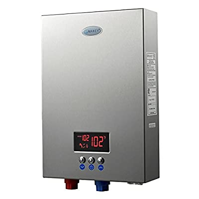 Marey ECO180 18kW 4.4 gpm 220V Self-Modulating Multiple Points of Use Tankless Electric Water Heater for the whole US territory, Small, Silver