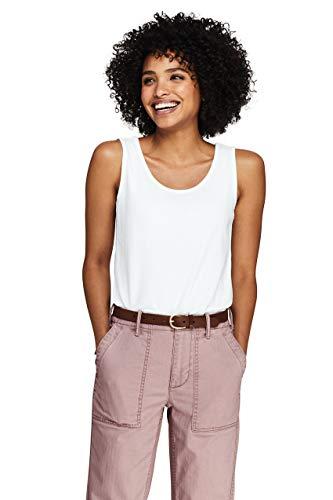 Top Knit Petite - Lands' End Women's Petite Cotton Tank Top White
