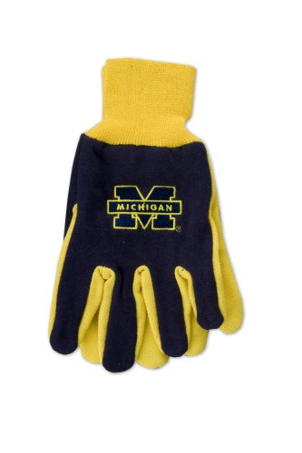 NCAA Michigan Wolverines Two-Tone Gloves, Blue/Yellow