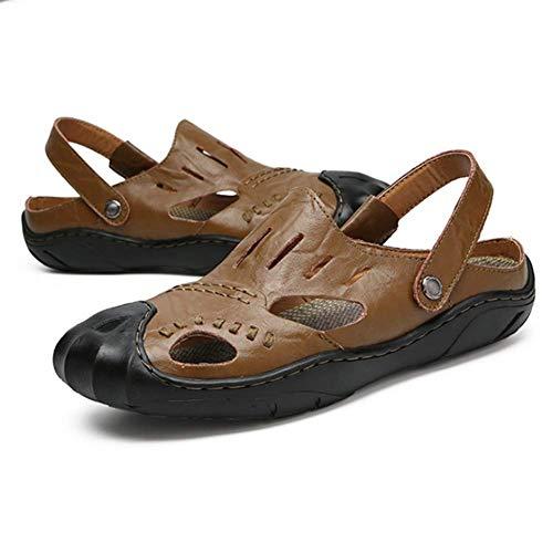 44 Del Pantofola Uomini Passeggio Khaki Piede Chiuso Sandali Estate Vacchetta Scarpe A Dito Baotou wZqBTUOqX