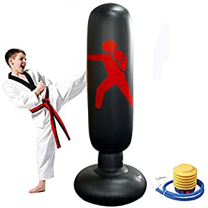 Well-Being-Matters 41PSc3XZwSL._SS300_ xingxinqi 63inch Inflatable Kids Punching Free Standing Bag Free Standing Boxing Bag for Adults and Kids Fitness