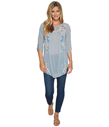 Johnny Was Women's Sindri Tunic Fog Blouse by Johnny Was