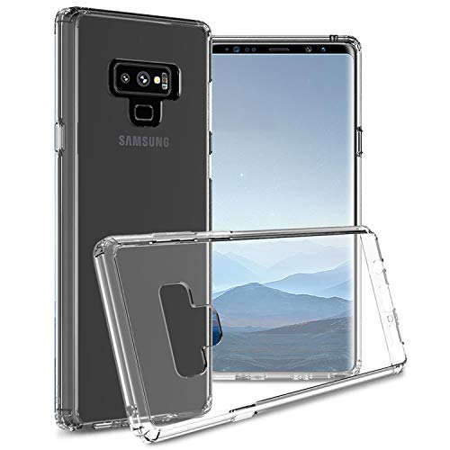 CoverON Galaxy Note 9 Clear Case, [ClearGuard Series] Slim Fit Phone Cover with Clear Hard Back and TPU Bumpers for Samsung Galaxy Note 9 - Clear