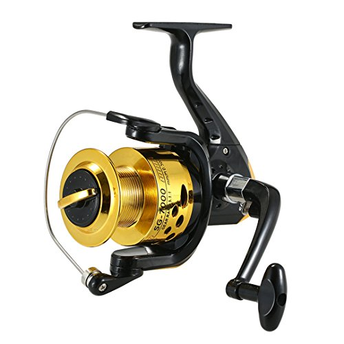 KEHAINIU 5.1:1 Spinning Fishing Reel 6BB Ball Bearings Left/Right H le Boat Fishing Bait Reels 200G Black 5000 Series