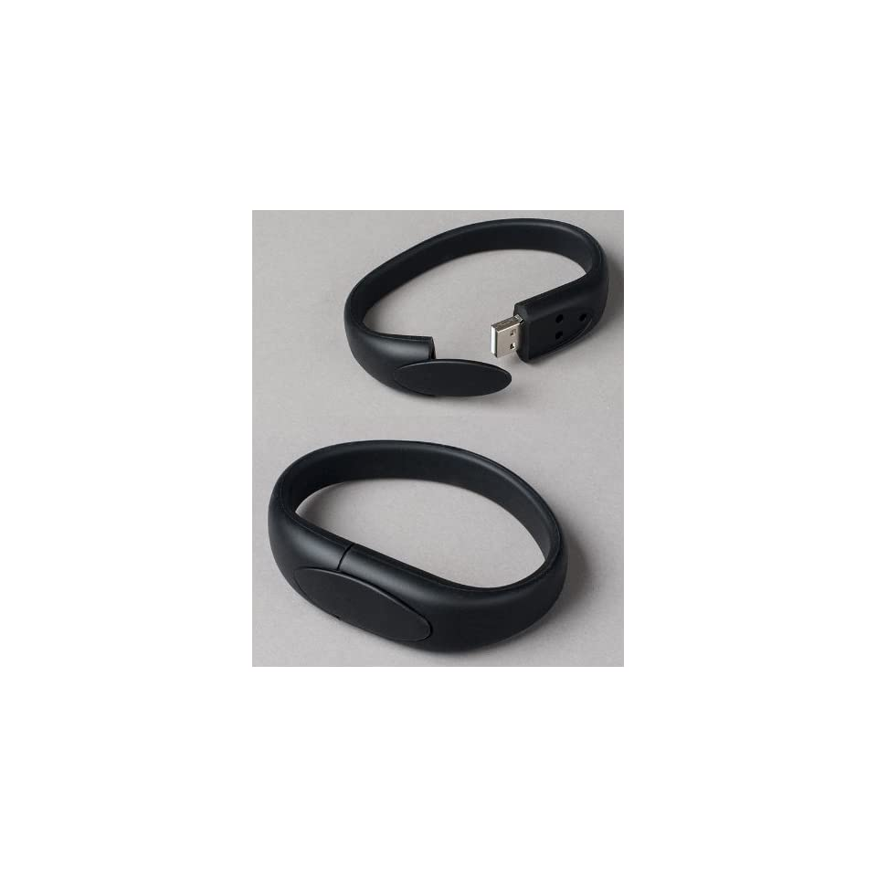 Black Wristband USB Flash Memory Drive 8GB