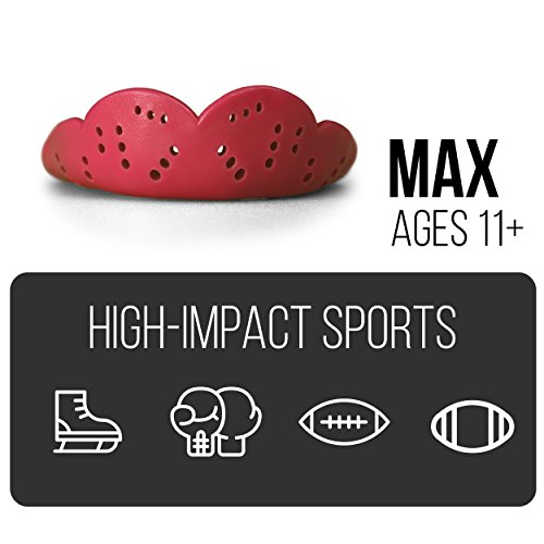 SISU Mouth Guards Max 2.4mm Custom Fit Sports Mouthguard Youth/Adults