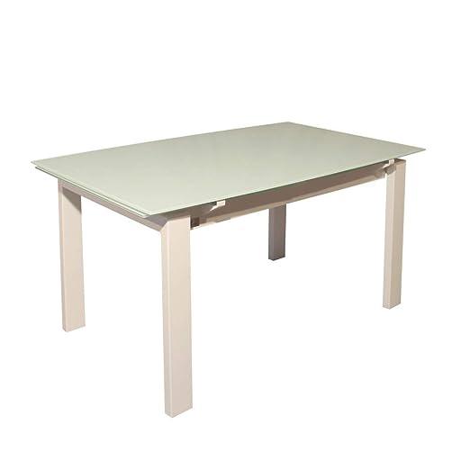 R R DESIGN - Mesa Extensible de Cristal para Cocina, salón ...