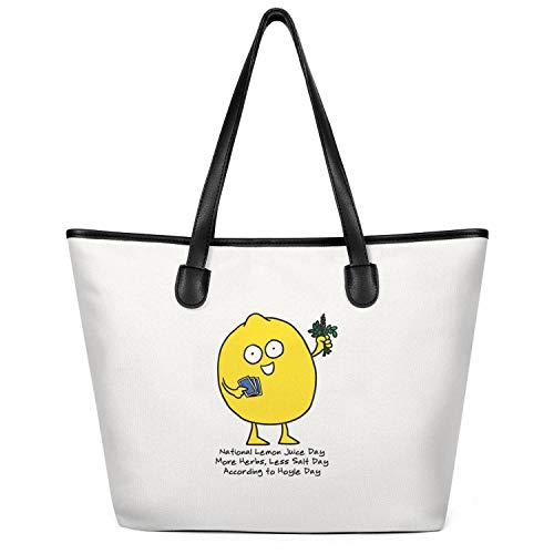 12.5X14 Inches Cute Zip Custom Design Canvas Large Tote Bag for Women National Trail Mix Day Cartoon Nut Healthy Snacks Reusable Grocery Beach Work Gym Book Lunch School Shopping Shoulder Handbag -