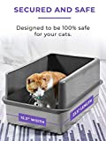 Stainless Steel Cat XL Litter Box and Cat Litter