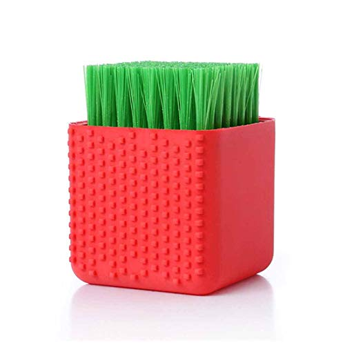 Selaurel Silicone Laundry Scrub Brush Multi-use Household Clothes Washing Brush Dual-use Scrubbing Brush for Clothes…
