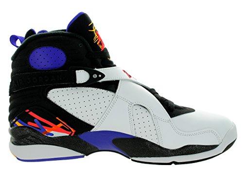 Nike Mens Air Jordan 8 Scarpe Da Ginnastica Retrò, 44,5 Eu Bianco / Nero / Viola (bianco / Infrrd 23-blk-brght Cncr-)