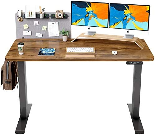 Best home office desk: FAMISKY Dual Motor Adjustable Height Electric Standing Desk