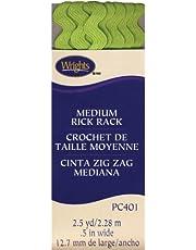 Wrights 1/2 by 2-1/2-Yard Rickrack, Medium, Lime Green