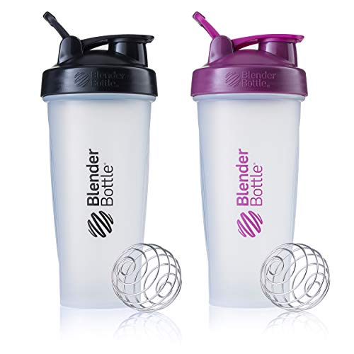 BlenderBottle Classic Loop Top Shaker Bottle, 28-Ounce 2-Pack, Colors May Vary ()