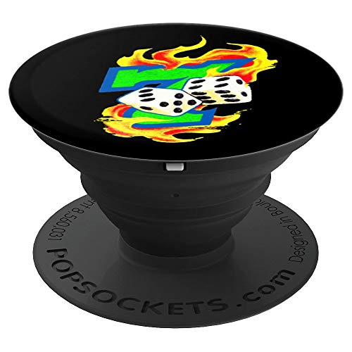 Lucky Dice Gambling Seven Number Casino Gamblers Party Gift PopSockets Grip and Stand for Phones and Tablets
