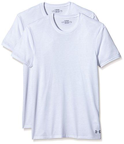 Under Armour Men's Core Crew Undershirt – 2-Pack, White/White, Medium