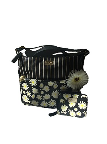 2PC Set! Betsey Johnson Daisy Crossbody Messenger Bag & Matching Wallet