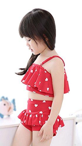 bagno per Set stampato da Bikini Acvip Red 2 Costume Princess bambini da pezzi CSxw5