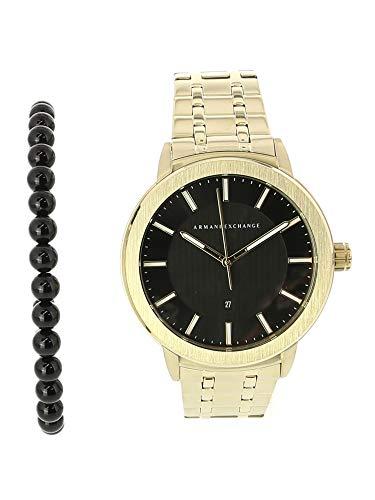 Armani Exchange Men's Ax7108 Gold Stainless-Steel Japanese Quartz Fashion Watch