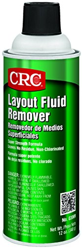 CRC Layout Fluid Remover, 12 oz Aerosol Can, Clear