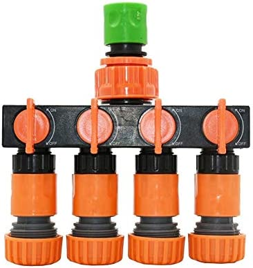 HXIANG 1/2 3/4ガーデンコネクタG1 / 2 G3 / 4 G1 1PCS 4ウェイ水道水スプリッタ庭の水タップをホース (色 : D 1)