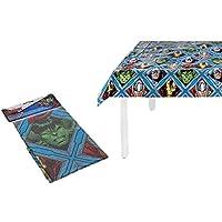 PEQUEFIESTA 00142; Mantel plástico para Fiesta o cumpleaños Avengers (87968), Dimensiones 120x180 cm