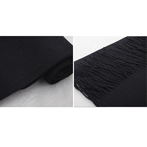 Ponchos Chale Tricot Pure Femme Echarpe Capes Chaud GWELL Noir Couleur 1xq5wRY47