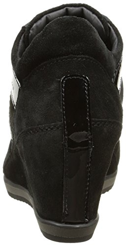vern Femme Noir c9999 scam Illusion Geox Sneakers Hautes Lisc A wqvqa8F