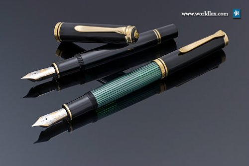 Pelikan Souveran 1000 Black Broad Point Fountain Pen - (Trim Large Fountain Pen)