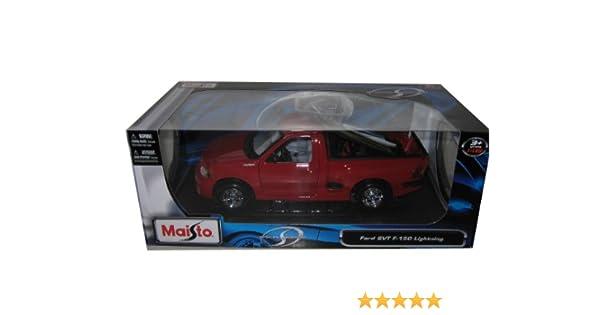 Amazon Com Ford F  Svt Lightning Red Cast Model Car Toys Games