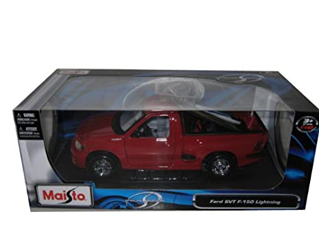 Ford Svt Lightning >> Amazon Com Ford F 150 Svt Lightning Red 1 21 Diecast Model Car