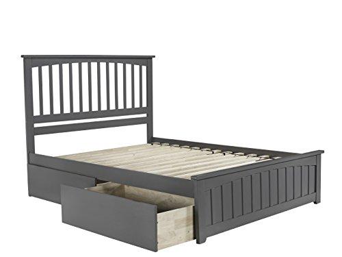 Atlantic Furniture AR8746119 Platform Bed, Queen, Gray