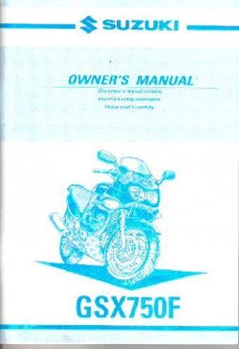 99011 20c67 03a 2005 suzuki katana gsx750f motorcycle owners manual rh amazon com Suzuki GSX 750 S 2017 Suzuki GSX S750