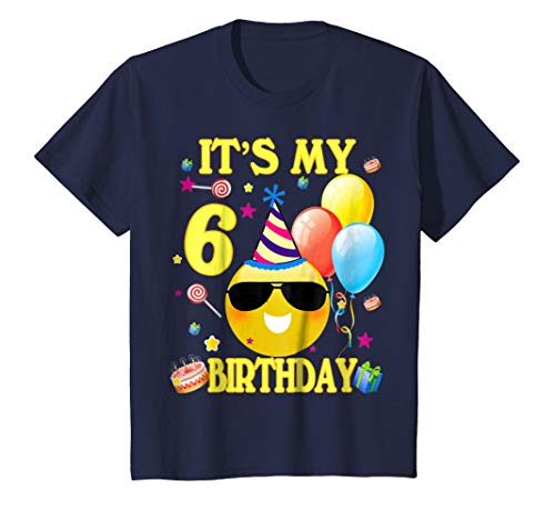 Kids Its My 6 Birthday Shirt Years Old 6th Gift