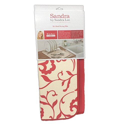 Sandra Lee Red and Cream Damask Reversible Extra Large Dish