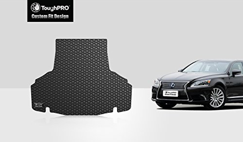 ToughPRO Cargo/Trunk Mat Compatible with Lexus LS460 - All Weather - Heavy Duty - (Made in USA) - Black Rubber - 2007, 2008, 2009, 2010, 2011, 2012
