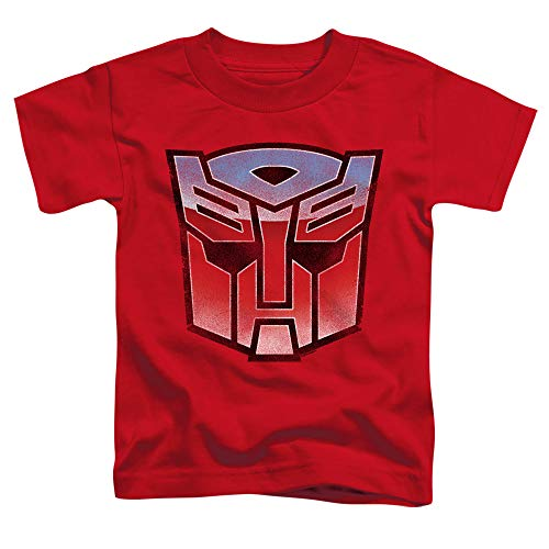 Transformers Vintage Autobot Logo Unisex Toddler T Shirt for Boys and Girls, Large (4T) Red
