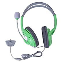 HDE Xbox 360 Headset Game Chat Xbox Live Headphone with Microphone (Green)