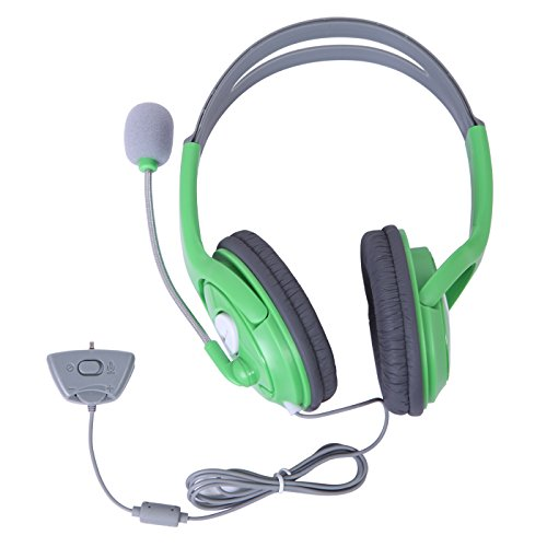HDE XBOX 360 Headset Headphone Mic Game Chat Live Microphone Compatible with Wireless (Xbox 360 Live Wireless Headset)