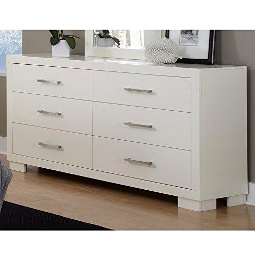 (Jessica 6-Drawer Dresser White)