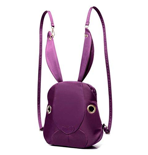FZHLY Bolso De Hombro Lindo De Los Oídos De Conejo De La Historieta,Red Purple