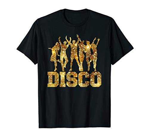 Disco T-Shirt 70s Funk Dance Party Retro Tee Gift]()