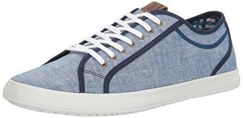 Ben Sherman Men's Chandler Lo Fashion Sneaker, Blue Chambray-Blu, 10.5 M US (Blu Mens Sneakers)
