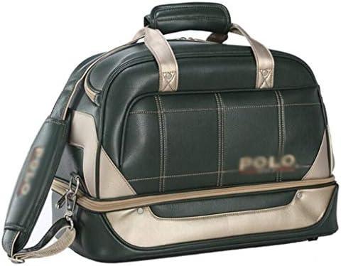 メンズアウトドアゴルフ用品収納バッグポータブルショルダーバッグ多機能ゴルフの服バッグ大容量トラベルバッグ耐久性と耐久性のあるPUブラック、グリーン HMMSP (Color : Green)