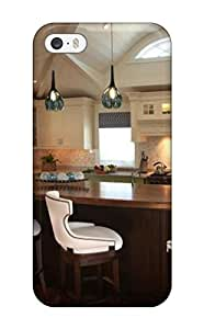 Hot Eat-in Kitchen With Bright Green Cabinets First Grade Tpu Phone Case For Iphone 5/5s Case Cover