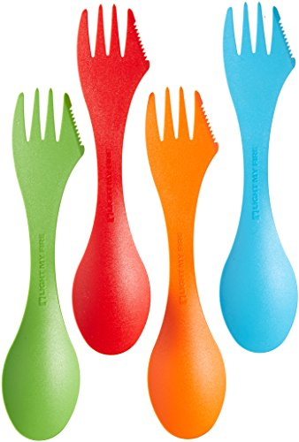 Light my Fire S-SP-4PACK-T Element Light My Fire Original BPA-Free Tritan Spork Multi-Color 4-Pack - Element