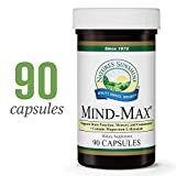 Nature's Sunshine Mind-Max, 90 Capsules | Focus Supplement with Magnesium L-Threonate Supports Brain Function and Naturally Encourages Greater Focus, Energy, Memory, and Clarity