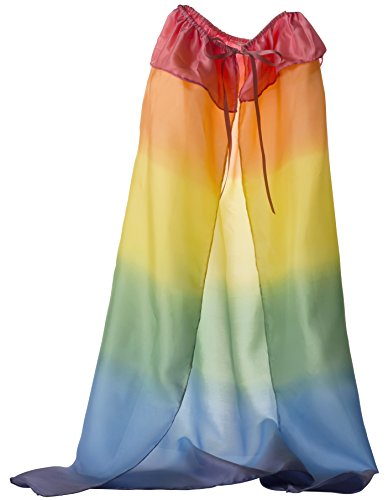 Sarahs Silks Silk Capes Available in Rainbow, Starry Night and 3 Reversible Solid Color Capes (Rainbow)